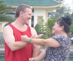 Instructor Alex Wallenwein and wife Thuy-An in Vietnam in '09
